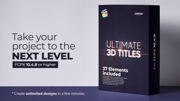 FCPX插件-37个终极史诗大气三维文字标题动画 Ultimate 3D Titles插图