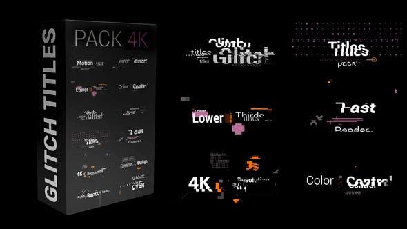 FCPX插件-12个动态醒目设计信号故障失真干扰文字标题动画 Glitch Titles Pack 4K插图