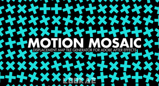 中文汉化AE插件-运动马赛克网格排列随机动画 Motion Mosaic v1.0 Win插图