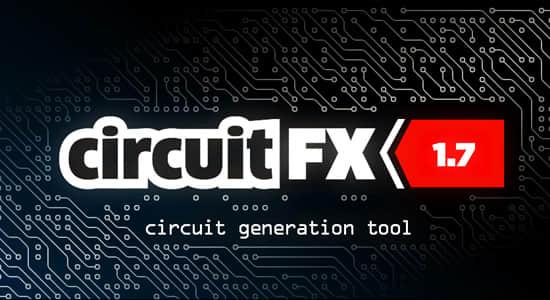 中文汉化AE脚本-高科技电流电路板线路动画 circuitFX v1.70 + 使用教程插图