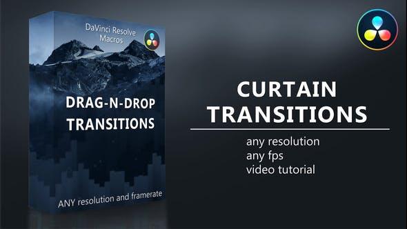 达芬奇模板-20个简单图形窗帘式拉开过渡转场预设 Curtain Transitions插图