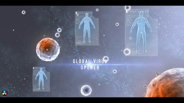 达芬奇模板-生物科技人体病毒文字标题动画 Global Virus Opener插图