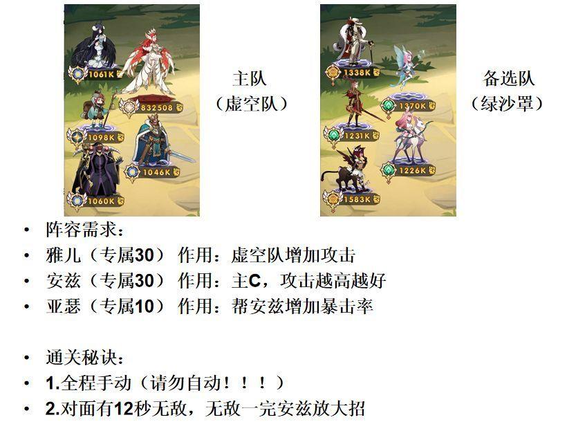 剑与远征神器试炼攻略:神器试炼通关阵容搭配推荐[多图]图片3